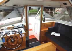 Interior image of boat