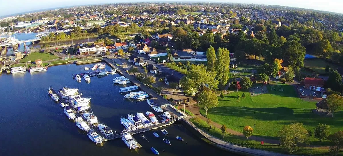 Oulton Broad from the air
